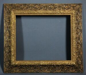 Large Antique Ornate Gesso Hardwood Picture Frame Art Nouveau 24 X 21