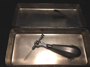 Karl Storz Surgical Needle Holder Punch Suture Passer Handle Ophthalmology