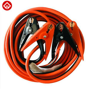 Heavy Duty 4gauge 25ft Long Battery Booster Cable Emergency Power Jumper 500amp