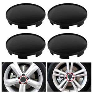4pc 68mm New Wheel Hubs Center Universal Wheel Rim Hub Cover Caps Easy Install