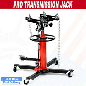 Pro 1660lbs Transmission Jack 2 Stage Hydraulic W 360 For Auto Lift 0 75t Usa