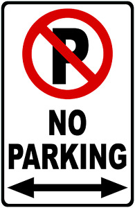 No Parking Sign With Symbol Arrow Size Options Parking Lot Rules Signs