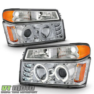 2004 2012 Chevy Colorado Gmc Canyon Led Halo Projector Headlights Bumper Lights