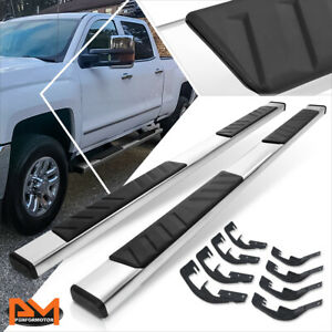 For 07 19 Silverado sierra Crew Cab 5 Side Step Nerf Bar Running Board Chrome