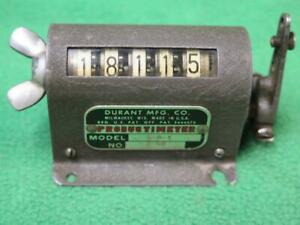 Durant 5 d 1 2 50 5 Digit Rotary Mechanical Stroke Counter Meter Strike Counting