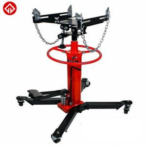 2 Stages Hydraulic Transmission Jack With 360 Swivel Wheels Lift Hoist 1100 Lbs