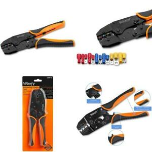 Crimping Tool For Insulated Electrical Connectors Ratcheting Wire Crimper Cr