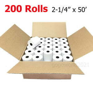2 1 4 X 50 Thermal Credit Card Cash Register Pos Receipt Paper 200 Rolls Usa
