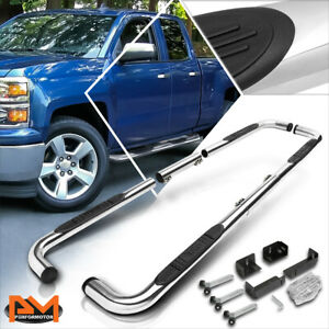 For 99 16 Chevy Gmc Ram Truck Ext Crew Cab 3 Step Nerf Bar Running Board Chrome