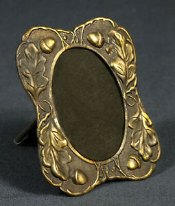 Antique Art Nouveau Brass Bronze Picture Frame 3 X 2 1 2