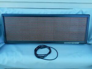 Signtronix Led Indoor Sign 24x80 Rg Led 40 3 sx Scrolling Light