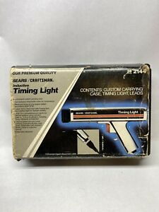 Used Sears Craftsman Timing Light Inductive Chrome Model 161 213400 28 2144
