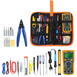 Electric Soldering Iron Gun Tool Kit 220v 60w Welding Desoldering Tool Set A6w3