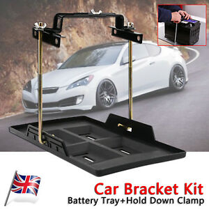 Car Storage Battery Holder Stabilizer Metal Rack Mount Bracket Stand Us