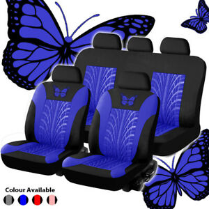 Butterfly Car Seat Cover Set Pu Leather Tire Track Seat Protector Universal