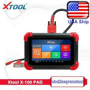 Xtool X100 Pad Tablet Obd2 Scanner Programmer Odometer Correction Eeprom