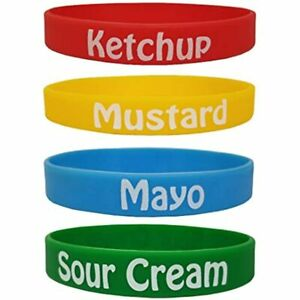 Condiment Kit D Squeeze Bottle Labels 1 Sour Cream Ketchup Mustard Mayo