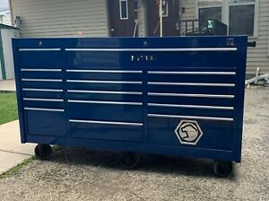 Matco 4s Triple Bay 25 Blue Toolbox With Removable Line x Top Great Condition
