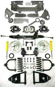 1947 1954 Chevy Truck Mustang Ii Power Front End Suspension 2 Drop Kit Wilwood