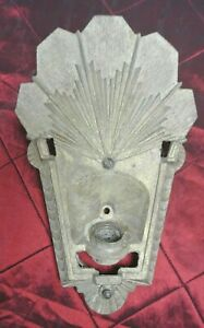 Vintage Wall Sconce Art Deco Gold Metal Antique For Repair