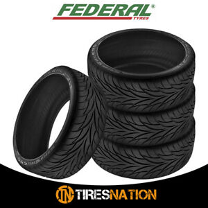 4 New Federal Ss595 215 40r17 Tires