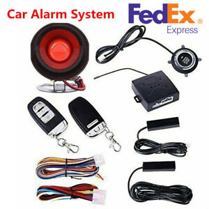 Pke Passive Keyless Entry Car Alarm System Engine Start Push Button Remote Kit