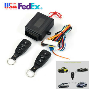 12v Wireless Remote Control Car Keyless Entry Alarm Systems Security Lock Kit