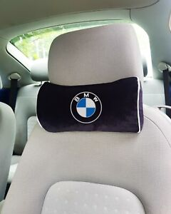Bmw Embroidery Print Car Black Pillow Car Seat Pillow Neck Rest personalized