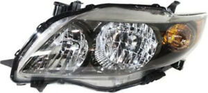 Left Driver Side Headlight Head Lamp For 2009 2010 Toyota Corolla