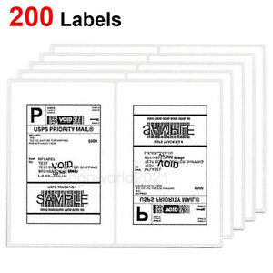 Us 200 Shipping Labels 8 5x5 5 Rounded Corner Self Adhesive 2 Per Sheet Usps Ups