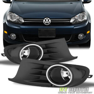 2010 2014 Volkswagen Golf Mk6 Jetta Vent Grille Cover Fog Lights Lamps W Switch