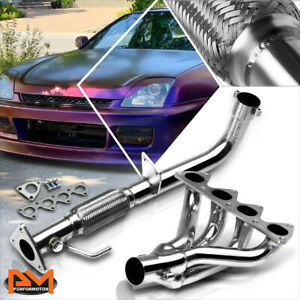For 97 01 Honda Prelude Non Sh H22 Stainless Steel 4 1 Exhaust Header Manifold