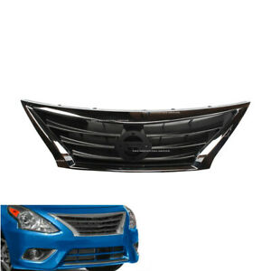 Front Bumper Grill Grille Chrome Fit For 2015 2016 2017 2018 Nissan Versa Sedan