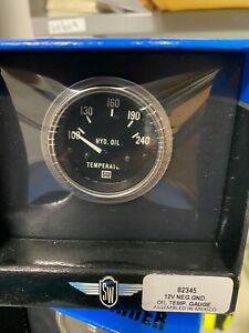 Stewart Warner 82345 12v Neg Ground Oil Temperature Gauge New In Box