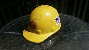 Vintage Fibre Metal Hard Hat Superlectric