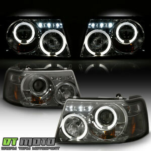 Smoke 1pc 2001 2011 Ford Ranger Led Halo Projector Headlights W Corner Headlamps