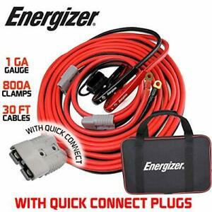 Energizer Jumper Cables 30 Feet 1 Gauge 800a Booster Battery Cables