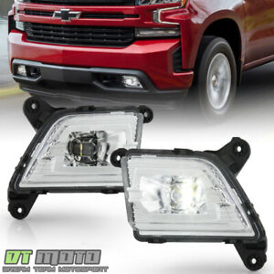 2019 2020 Chevy Silverado 1500 Bumper Led Fog Lights Driving Lamps W Switch Set