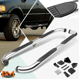 For 98 11 Ford Ranger Ext super Cab 3 Side Step Nerf Bar Running Board Chrome
