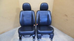 2009 2012 Ford Escape Front Leather Bucket Seats W Airbag Rh Lh Black Oem