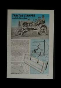 Scraper Blade For Vintage Farm Tractor 6 Wide 1946 How to Build Plans