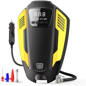 12v 150psi Portable Car Air Compressor Pump digital Tire Inflator With Led Light