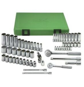 Sk Tools 62 Pc Socket Set Metric 1 4 3 8 Dr 62 Pc 94562