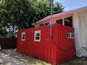 20ft Basic Office built W Used Container Price Includes Delivery In Austin
