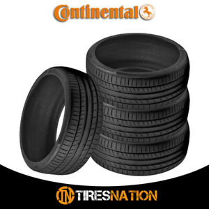 4 New Continental Contisportcontact 5 225 45 17 91w Performance Summer Tire