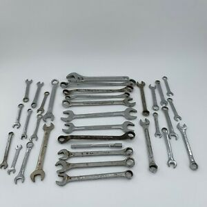 Lot Of 33 Wrenches S k Tools Craftsman Penncraft Globemaster Germany