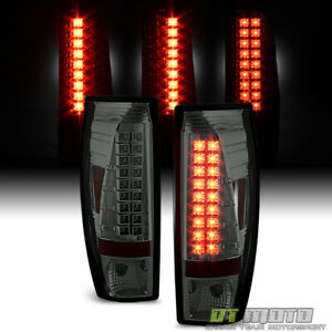 Smoked 2002 2006 Chevy Avalanche 1500 2500 Pickup Lumileds Led Tail Lights Lamps