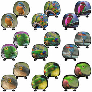 Cute Bird 2 4 Pieces Car Seat Covers Headrest Cover Front Rear Car Accessories