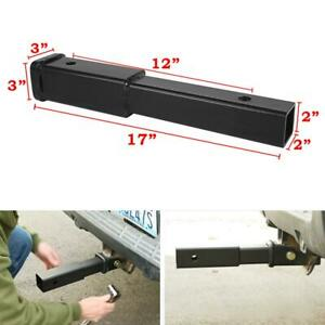 17 x2 x2 Tow Trailer Hitch Extender Receiver Extension 5 8 Pin Hole 4000 Lbs