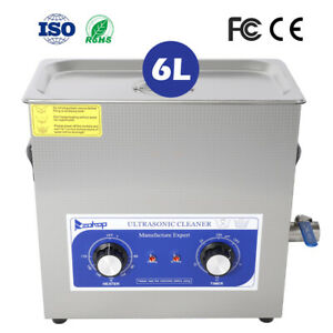 Us Stainless Steel 6l Ultrasonic Cleaner Industry Jewelry Heated Heater W timer